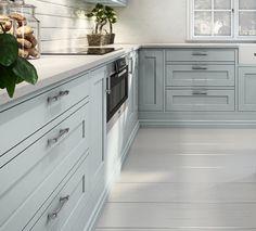 Sigdal kjøkken - Scala Inframe Love the color Kitchen Cabinet Design, Kitchen Cabinets, Cute House, Tile Floor, Indoor, Traditional, Bedroom, Furniture, Home Decor