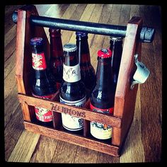 Handmade Wooden Six Pack Carrier/ Homebrew by CarmellaCreations, $55.00