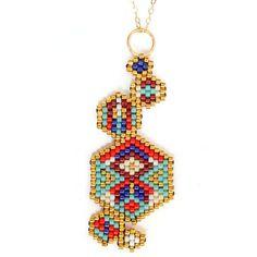 """Collier mi-long ethnique chic """"Hexa Colors"""" : Collier par amy-jewels"""