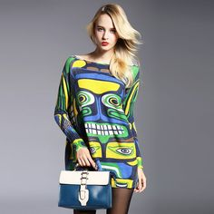 New Autumn Long Women Sweater Clothing Casual Novelty