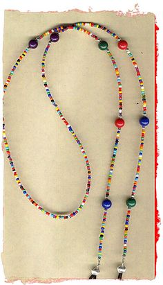 Gozluk such - Anja Wire Jewelry, Jewelry Crafts, Beaded Jewelry, Handmade Jewelry, Beaded Necklace, Beaded Bracelets, Cool Necklaces, Schmuck Design, Eyeglasses