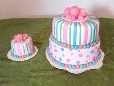 Elephant themed vegan birthday cakes 2 tier cake with matching