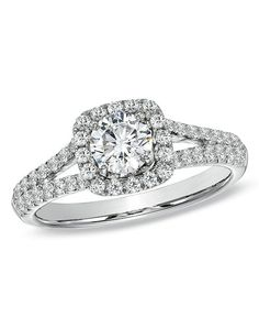 Celebration Fire® 1 CT. T.W. Diamond Engagement Ring in 14K White Gold (H-I/SI1-SI2)   19322981