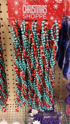 hobby lobby red aqua bead garland - Hobby Lobby Christmas Garland