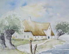 Haus am Watt - Aquarell / Watercolor - 24 x 30 cm