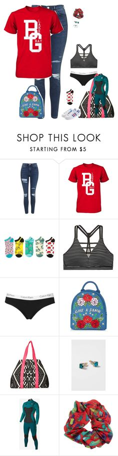 """""""2.19.17"""" by alamort-rcm ❤ liked on Polyvore featuring Topshop, Victoria's Secret, Skinnydip, Hurley and adidas Originals"""