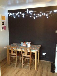 blackboard wall in kitchen