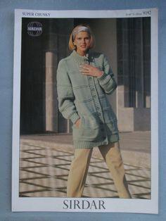 e541463294b13a Sirdar 9192 Knitting Pattern Lady s Jacket 28 - 40 Wash N Wear Super Chunky