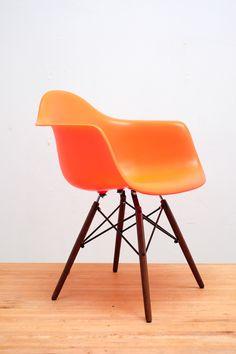 Orange Eames chair, Herman Miller