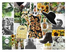 """""""Sunflowers & Pineapples"""" by madeleinebabes ❤ liked on Polyvore featuring Mr. Gugu & Miss Go, Salsa, Life's a Beach, Prada, Pier 1 Imports, John-Richard, KEEP ME, Charlotte Russe, MBLife.com and Lee Renee"""