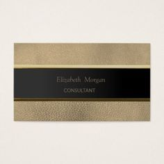Simple Minimalist Stripe  Leather Look Business Card - attorney lawyer business personalize unique counsel