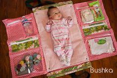 Great idea for a baby bag. Great baby shower gift.