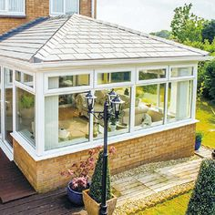 Our SupaLite systems convert almost any conservatory into a useable all year round sun-porch with amazing insulating properties. Tiled Conservatory Roof, Resin Driveway, Roofing Systems, Sunroom, Solar Panels, Gazebo, Home Improvement, New Homes, Exterior