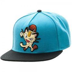 738f12f0090 Pokemon Meowth Color Block Snapback Baseball Cap