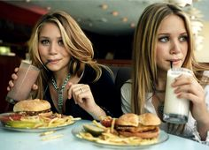 Mary-Kate and Ashley Olsen. Celebrities.