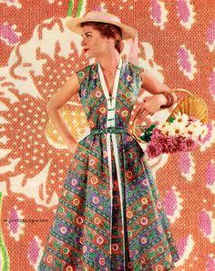 Betty Barclay /Fuller Fabrics 1954
