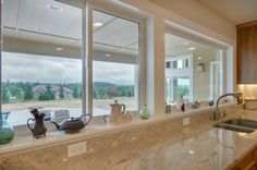 The view from the kitchen windows. Designed and built by Quail Homes of Vancouver Washington.