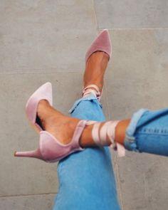 Ankle-Wrap Pumps