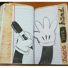 wreck this journal trace your hand