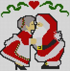 Alpha friendship bracelet pattern added by Maxie. Cross Stitch Christmas Ornaments, Xmas Cross Stitch, Cross Stitch Cards, Christmas Cross, Cross Stitching, Cross Stitch Embroidery, C2c, Cross Stitch Designs, Cross Stitch Patterns