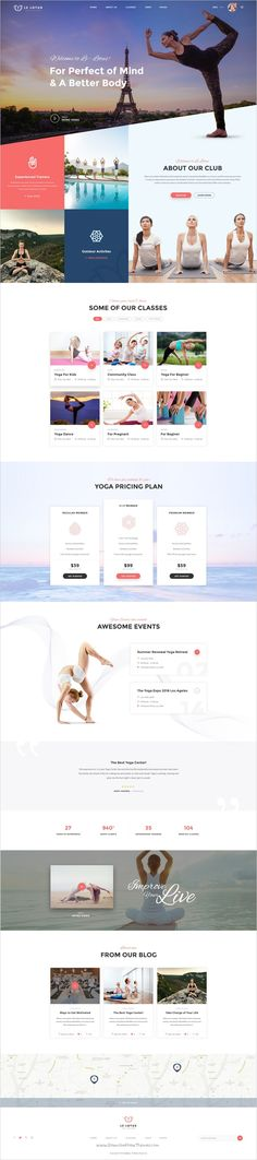 Le Lotus is the exclusive #PSD #template for all kinds of #Yoga, Fitness, Wellness, Spa, Health and Beauty center websites download now➯ https://themeforest.net/item/le-lotus-yoga-center-psd-template/17166252?ref=Datasata