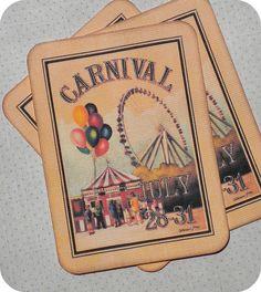 Vintage Style Carnival Tags | Flickr – Compartilhamento de fotos!