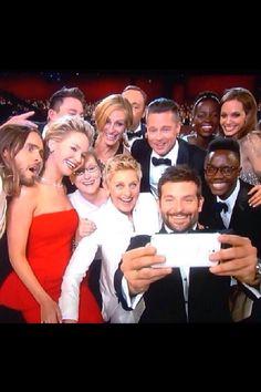 Best selfie ever at Oscars 2014