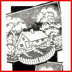 Vintage Filet Crochet Pattern ~ Cottage Chair Set
