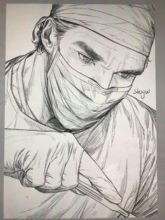 A neurosurgeon by 백작伯爵 @sh2jw  doctor strange fan art