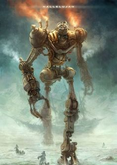 #steampunk #illustration #robot