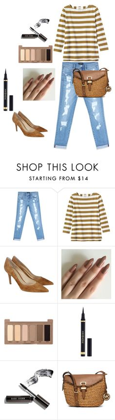 """Sem título #116"" by regnovo on Polyvore featuring moda, Bebe, Toast, Gianvito Rossi, Urban Decay, Yves Saint Laurent, Bobbi Brown Cosmetics e MICHAEL Michael Kors"