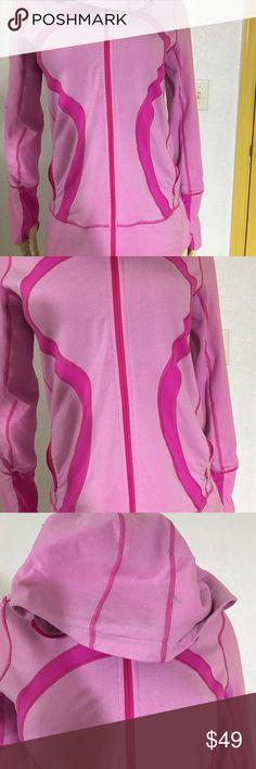 Lululemon Stride Jacket Sz M Pink Thumbholes Lululemon Stride Jacket Sz M Pink Thumbholes lululemon athletica Tops Sweatshirts & Hoodies