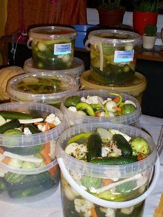 Ennek a receptje szintén Tibi szomszédtól származik. Ezen viszont semmin semmit nem változtattam. Ez így jó. Nagyon jó! Nem annyira s... Paleo Recipes, New Recipes, Cooking Recipes, Canning Pickles, Pickling Cucumbers, Eat Pray Love, Hungarian Recipes, Fermented Foods, Diy Food