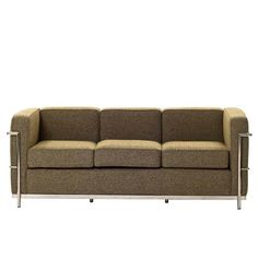 Modway Charles Wool Petite Sofa in Oatmeal
