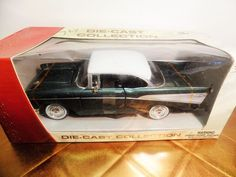 1957 Chevrolet Bel Air Green 1:24 Scale Collectable Diecast Model Car  MotorMax #Motormax #Chevrolet