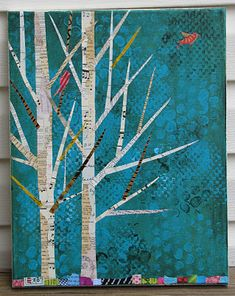 love the pages idea for birch trees