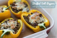 Stuffed bell peppers with quinoa recipe