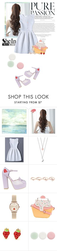 """""""Shein_white dress"""" by younica ❤ liked on Polyvore featuring Pin Show, Behance, ChloBo, Eddie Borgo, Orla Kiely, Nails Inc., Sheinside and shein"""