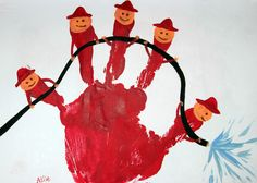 Pompiers des 5 doigts de la mains... Activité anniversaire thème pompier