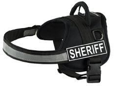 DT Works Harness Sheriff BlackWhite XXSmall  Fits Girth Size 18Inch to 21Inch *** Click image for more details.(This is an Amazon affiliate link and I receive a commission for the sales)