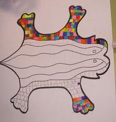 ARTE EN LA ESCUELA: DRAGÓN DEL PARC GÜELL Classroom Art Projects, School Art Projects, Art Classroom, Art For Kids, Crafts For Kids, Arts And Crafts, Primary School Art, Parc Guell, Dragon Crafts