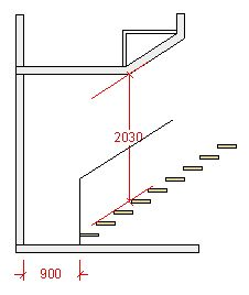 "In a small house where space is at a premium the stair space may encroach upon a room above. The trick in this case is to create a sloping soffit, parallel to the nosing line for the width of the stair at that point. The resulting sloping surface to the floor of the room above is often boxed in, and the room itself sometimes gets called a ""box room""."