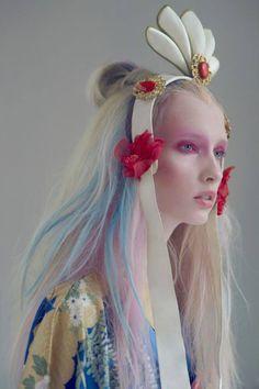 Beauty Editorial by Susanne Spiel / pastel hair color