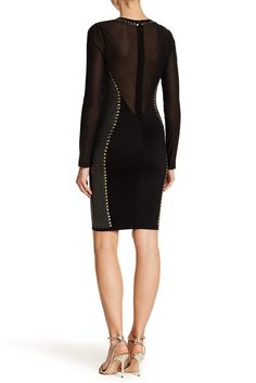 Image of Wow Couture Crew Neck Bedazzled Mesh Dress