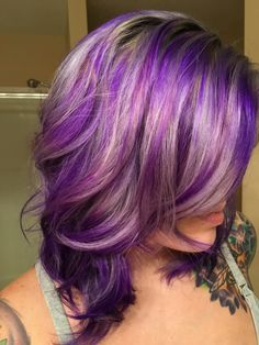Grey purple  mix