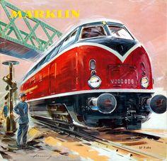 Classic DB V200 in the 1959 Marklin catalogue