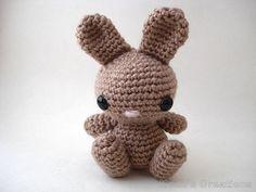 Fancy Bunny Sitting Amigurumi Bunny Rabbit by Moon's Creations $40.00
