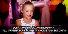 Kenzie only had this one quote where she said she doesn't want to be on broadway and instead wants to stay home and eat chips. Description from pinterest.com. I searched for this on bing.com/images