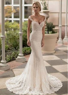 9954300176a4 Magbridal Fantastic Tulle Off-the-shoulder Neckline Mermaid Wedding Dresses  With Beaded Lace Appliques. Abiti Da Sposa ...