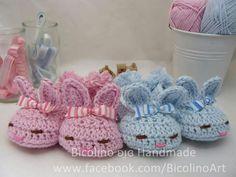 Piccoli babbucce coniglietti per neonati